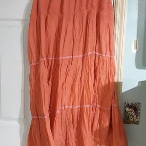 Orange salmon color skirt